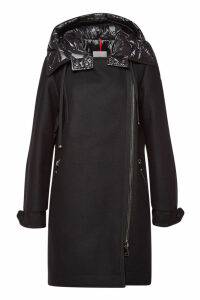 Moncler Bouscarle Down Coat with Virgin Wool