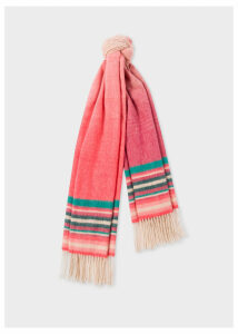 Women's Pink Ombré Lambswool And Cashmere Scarf