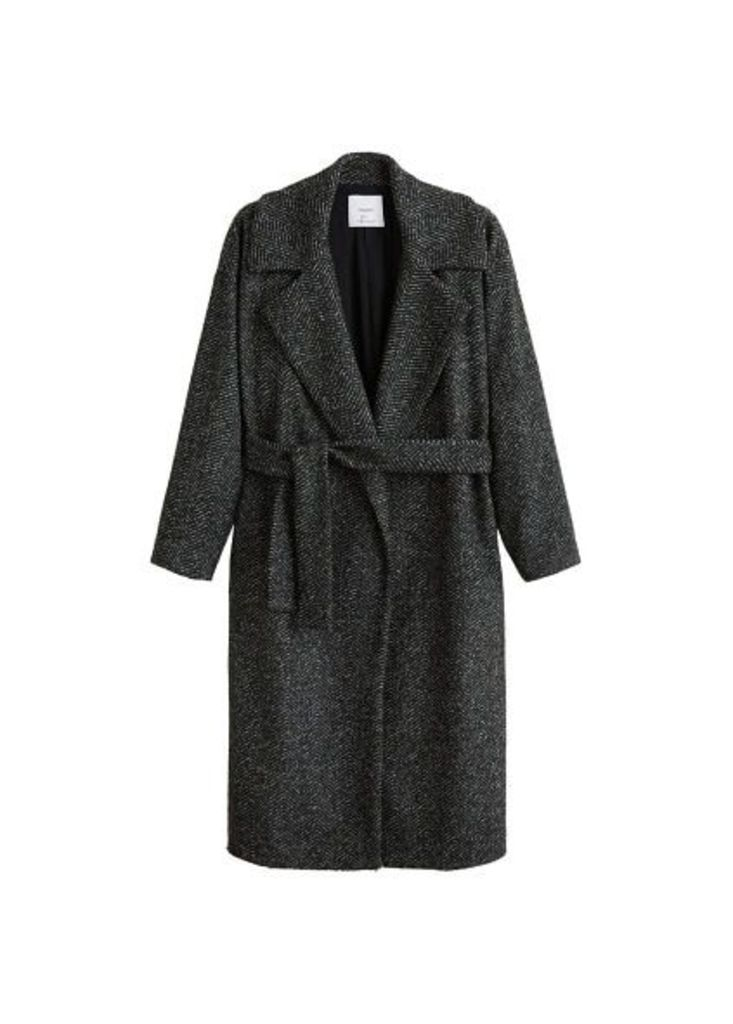 Unstructured belt coat