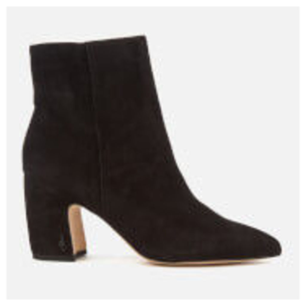 Sam Edelman Women's Hilty Suede Heeled Ankle Boots - Black