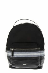 Hogan Technical Fabric Backpack With Glitter