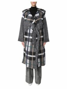 Stella McCartney Checked Wool Blend Coat