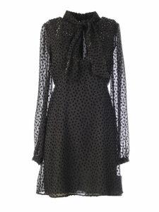 Saint Laurent Long-sleeved Mini Dress