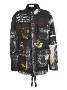 Faith Connexion Paint Splash Military Jacket