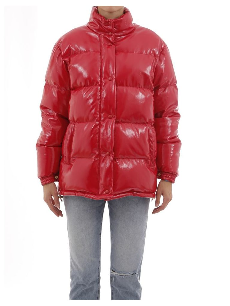 Alberta Ferretti Red Down Jacket Saturday