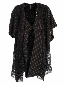 Antonio Marras Asymmetric Contrast Panel Cardigan