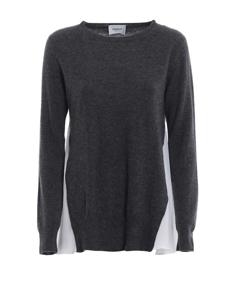 Dondup Frilled Merino And Cashmere Sweater