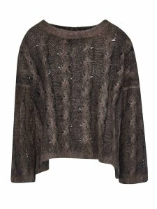 f cashmere Cropped Knitted Sweater