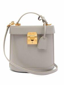 Mark Cross - Benchley Saffiano Leather Shoulder Bag - Womens - Light Grey