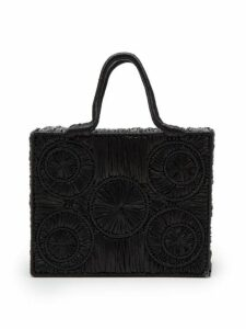 Sophie Anderson - Caba Woven Raffia Handbag - Womens - Black
