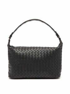 Bottega Veneta - Ciambrino Intrecciato Leather Shoulder Bag - Womens - Black
