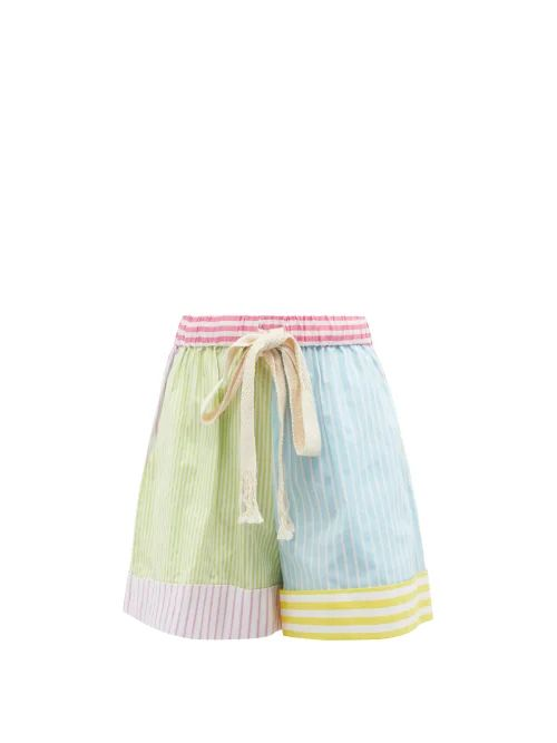 Hillier Bartley - Python Effect Faux Leather Pencil Skirt - Womens - Pink Print