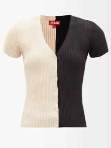 Calvin Klein 205w39nyc - Striped Mohair Blend Sweater - Womens - Light Blue