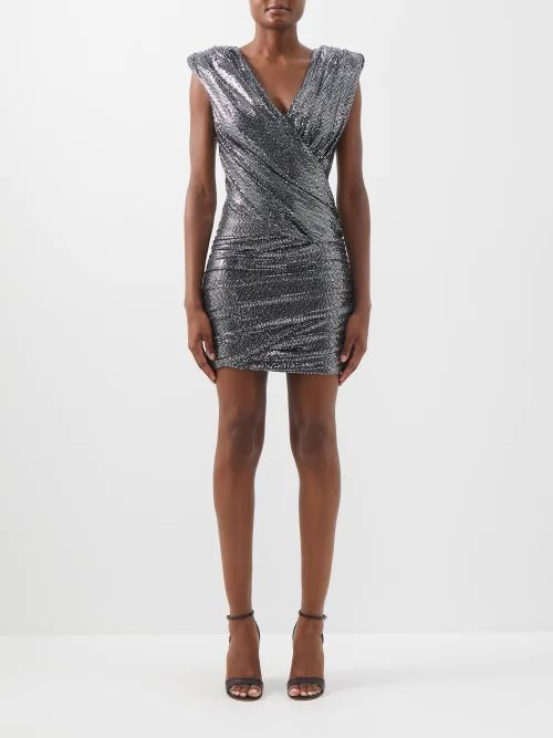 By Walid - Margot Floral Print Silk Midi Skirt - Womens - Pink Print