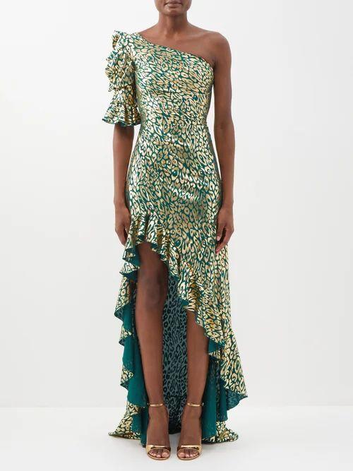 Caroline Constas - Striped Tie Waist Cotton Midi Skirt - Womens - Black White