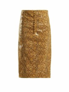 Hillier Bartley - Faux Python Pencil Skirt - Womens - Beige Print