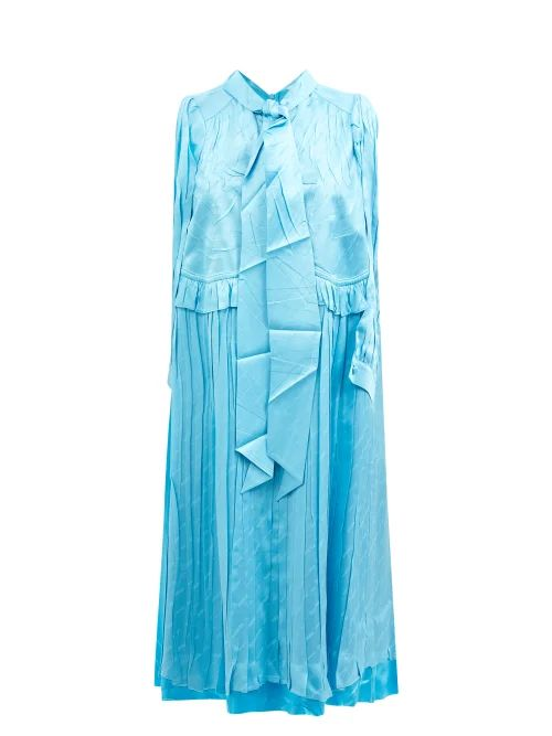 Stella Mccartney - Double Breasted Checked Blazer - Womens - Navy