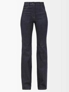 Raey - Gathered Neck Velvet Maxi Dress - Womens - Dark Red