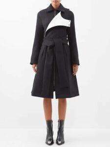 Caroline Constas - Self Tie Tiered Ruffle Skirt - Womens - Black
