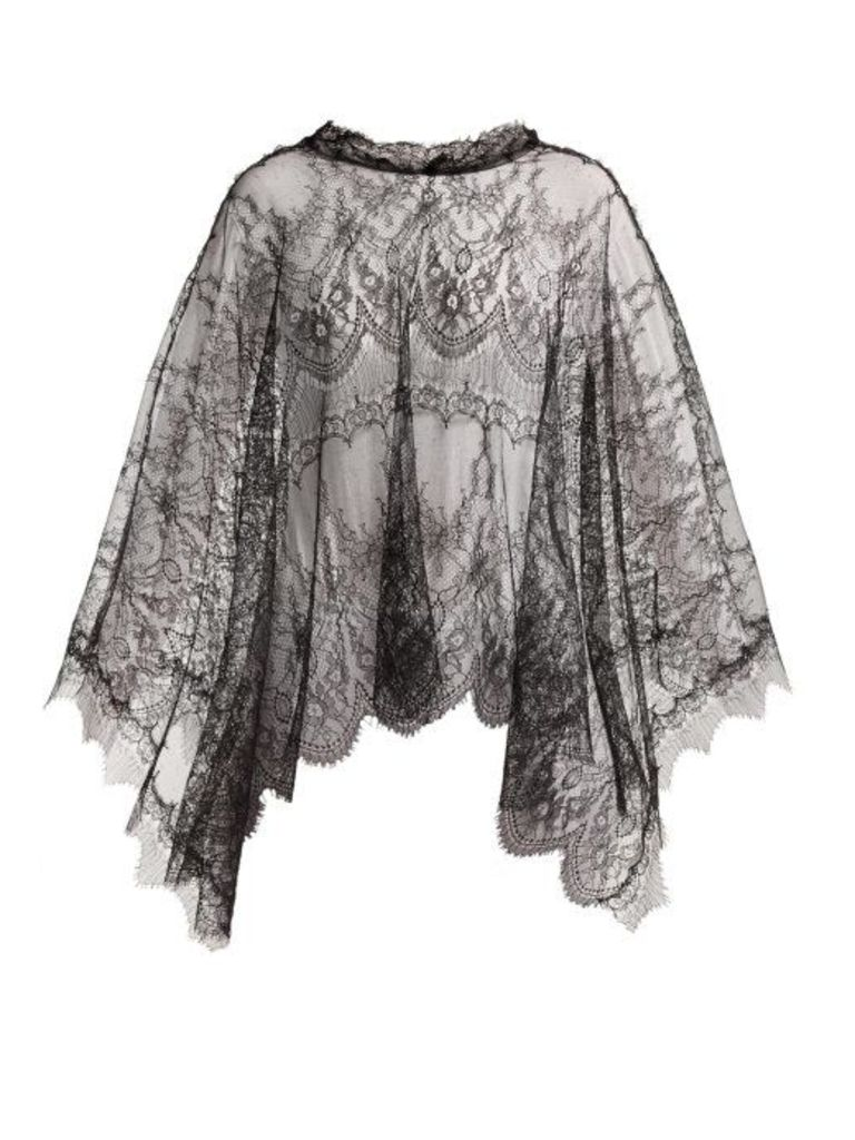 Maria Lucia Hohan - Delphine Chantilly Lace Cape - Womens - Black