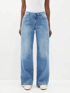 Raey - Long Line Fine Knit Cashmere Sweater - Womens - Dark Green