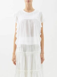 Brock Collection - Sorrel Floral Jacquard Pencil Skirt - Womens - Pink Multi