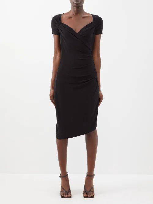 Altuzarra - Minaret Ruffle Trimmed Skirt - Womens - Black