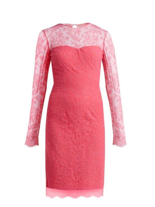 Emilio De La Morena - Mona Lace And Silk Blend Mini Dress - Womens - Pink