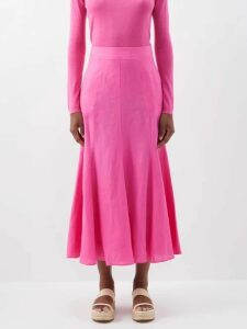 Emilio De La Morena - Mona Lace And Silk Blend Mini Dress - Womens - Pink