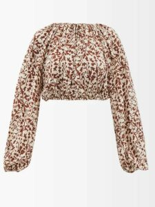 Pleats Please Issey Miyake - Abstract Print Pleated Coat - Womens - Multi