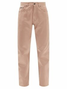 Koché - Asymmetric Panelled Satin Blouse - Womens - Cream