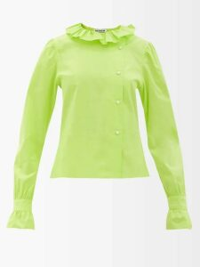 Erdem - Eilian Tulle Overlay Floral Jacquard Gown - Womens - Pink Multi