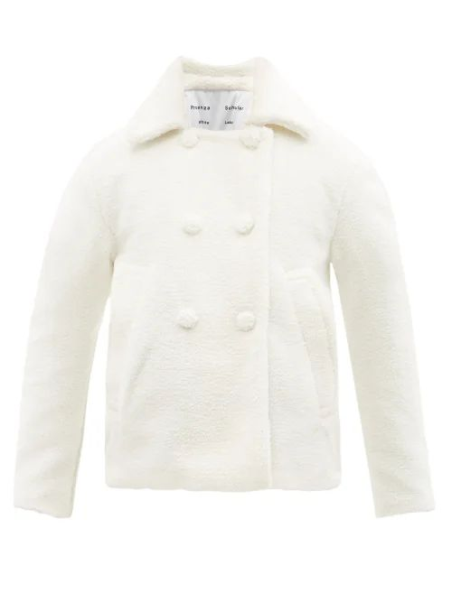Blazé Milano - Fair & Square Checked Wool Coat - Womens - Pink Multi