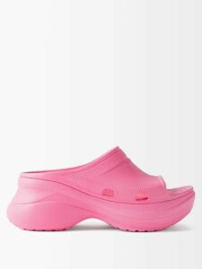 Sara Battaglia - Colour Block Wrap Around Stretch Wool Skirt - Womens - Multi