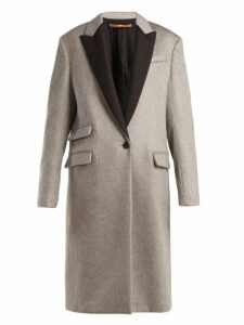 Summa - Contrast Panel Cashmere Coat - Womens - Black Grey