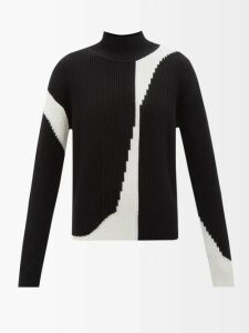 Etro - Jeanette Ruffled Silk Blouse - Womens - Blue White