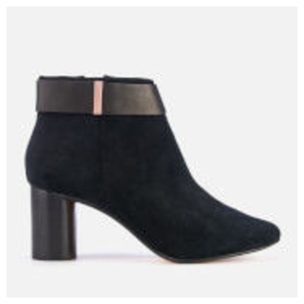Ted Baker Women's Mharia Suede Heeled Ankle Boots - Black