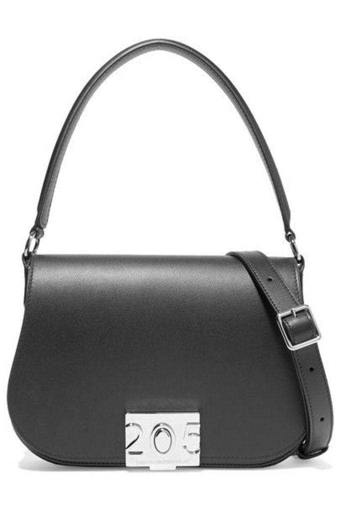 CALVIN KLEIN 205W39NYC - Bonnie Grosgrain-trimmed Leather Shoulder Bag - Black