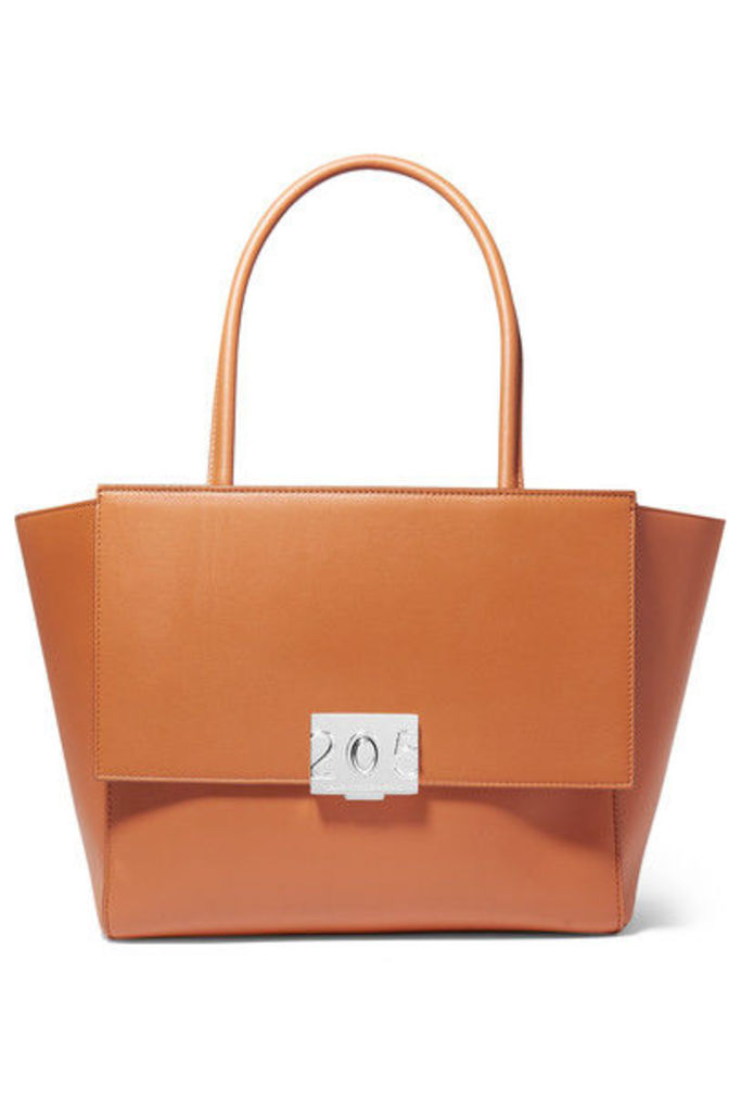 CALVIN KLEIN 205W39NYC - Bonnie Large Grosgrain-trimmed Leather Tote - Tan