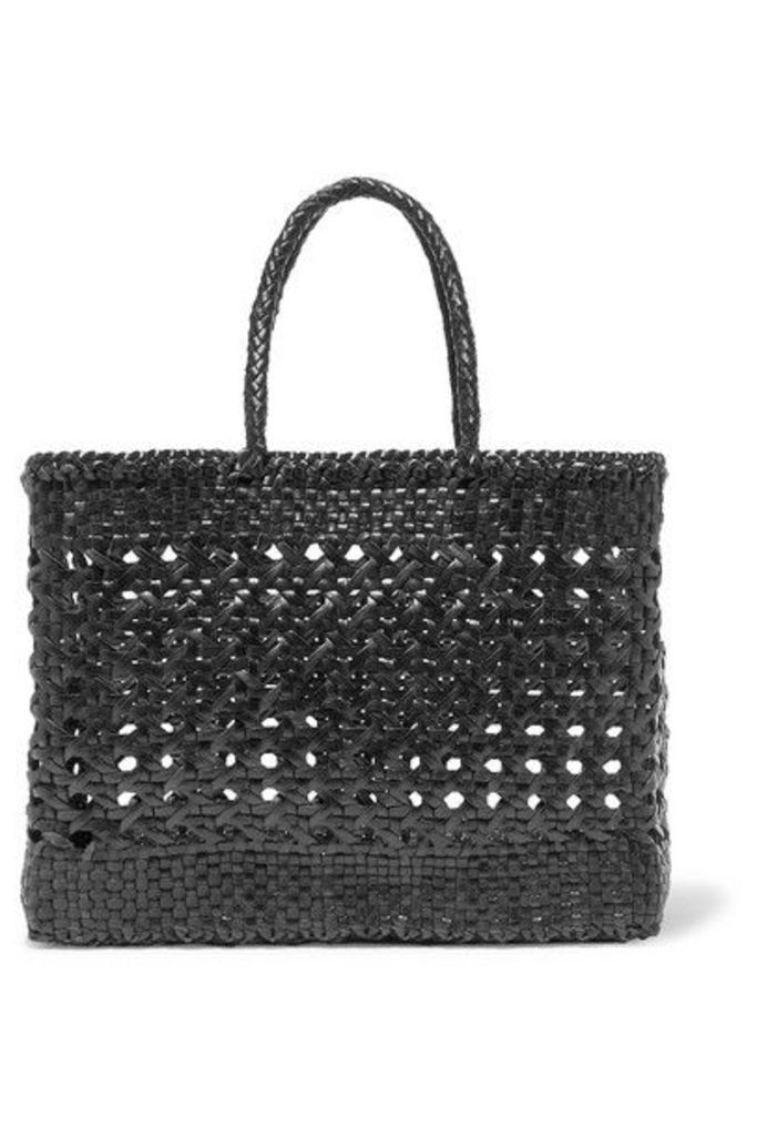 Dragon Diffusion - Cannage Big Woven Leather Tote - Black