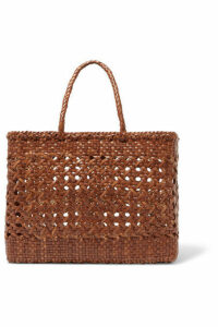 Dragon Diffusion - Cannage Big Woven Leather Tote - Tan