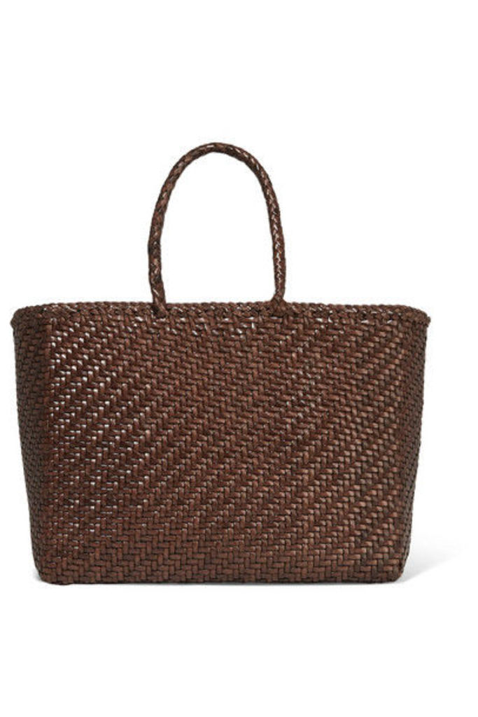 Dragon Diffusion - Basket Woven Leather Tote - Dark brown