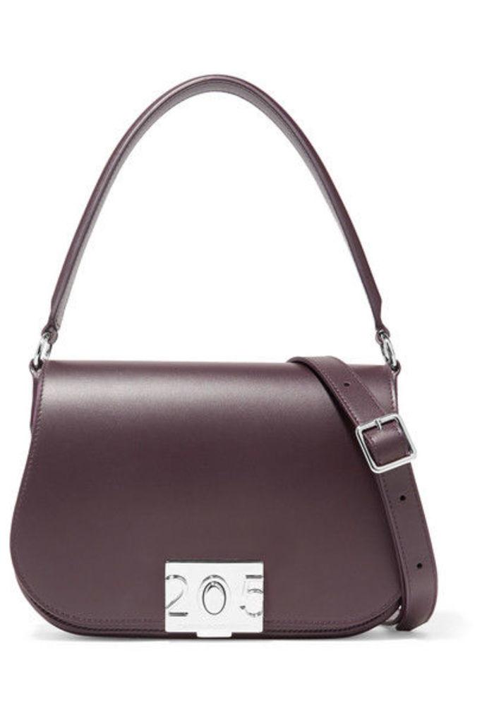 CALVIN KLEIN 205W39NYC - Bonnie Grosgrain-trimmed Leather Shoulder Bag - Merlot