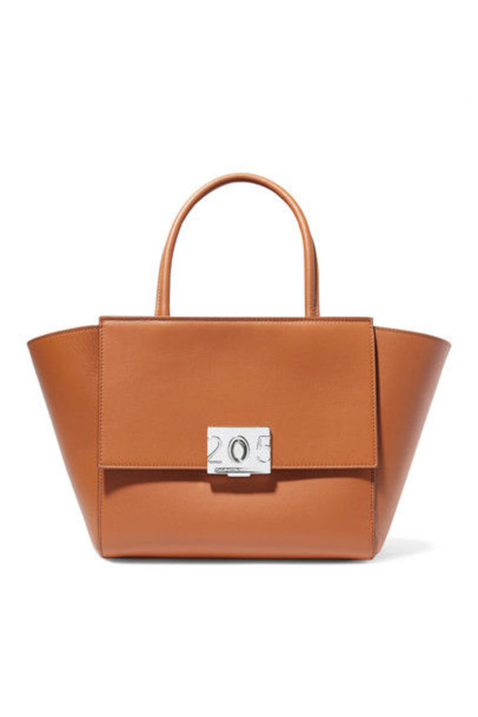 CALVIN KLEIN 205W39NYC - Bonnie Medium Grosgrain-trimmed Leather Tote - Tan