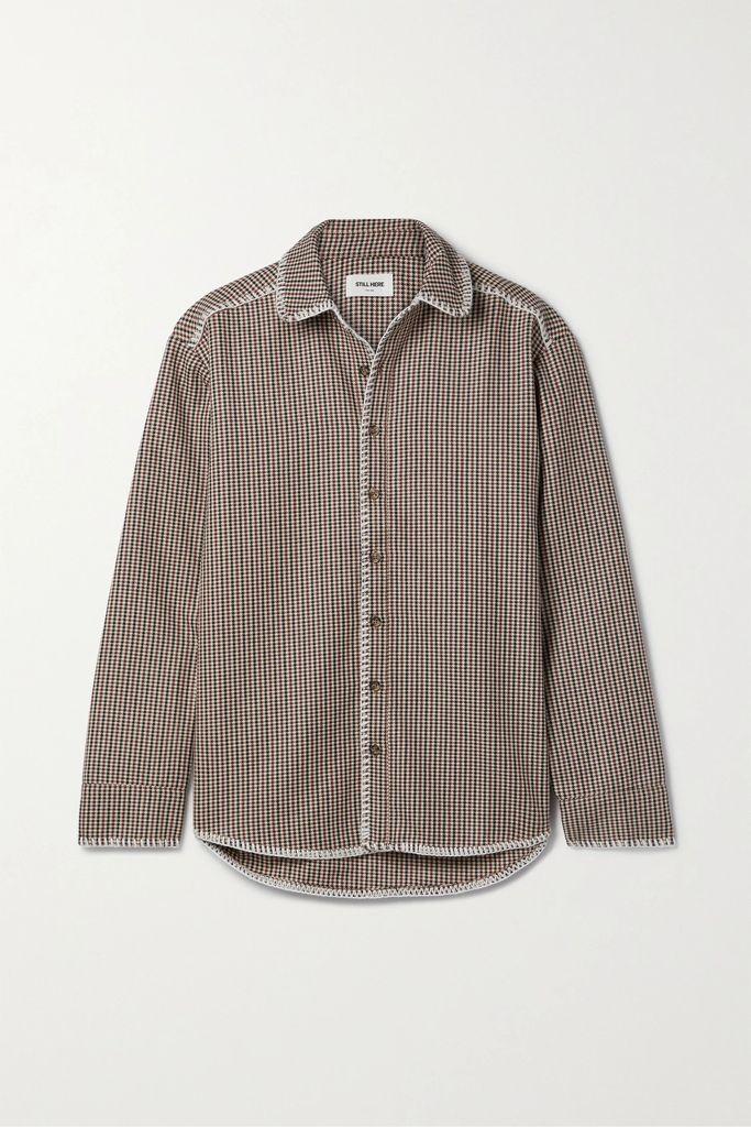 Alice + Olivia - Athena Leopard-print Silk-blend Lamé Maxi Skirt - Gold
