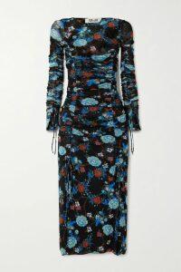 MICHAEL Michael Kors - Tiered Plissé-velvet Midi Skirt - Green