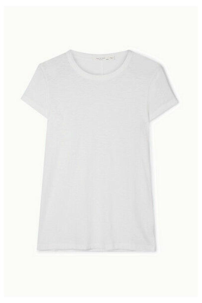 rag & bone - The Tee Slub Pima Cotton-jersey T-shirt - White