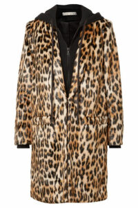 Alice + Olivia - Kylie Leopard-print Faux Fur And Cotton-jersey Coat - Leopard print