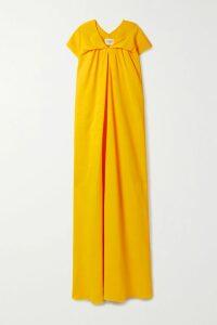 SAINT LAURENT - Tie-front Ruched Crepe Mini Dress - Black
