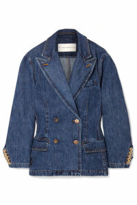 Matthew Adams Dolan - Double-breasted Denim Blazer - Mid denim
